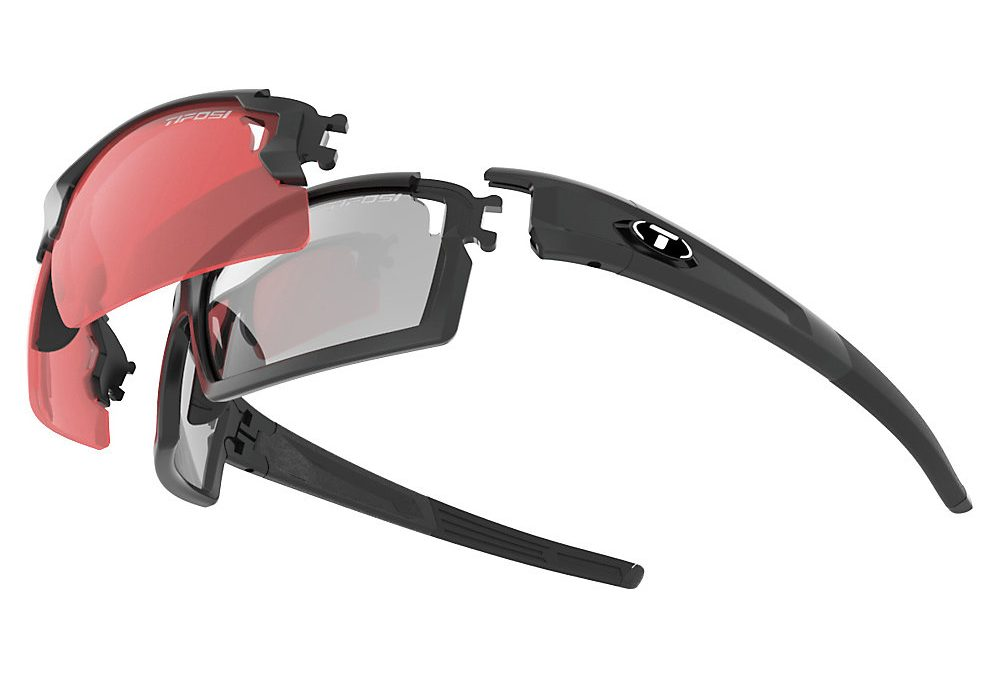 Tifosi Eyewear Pro Escalate F-H Glasses Matte Fototec – Foto Smoke Full and Red Foto Smoke Half, Foto Smoke Full and Red Foto Smoke Half