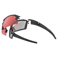 Tifosi Eyewear Pro Escalate F-H Glasses Matte Fototec - Foto Smoke Full and Red Foto Smoke Half